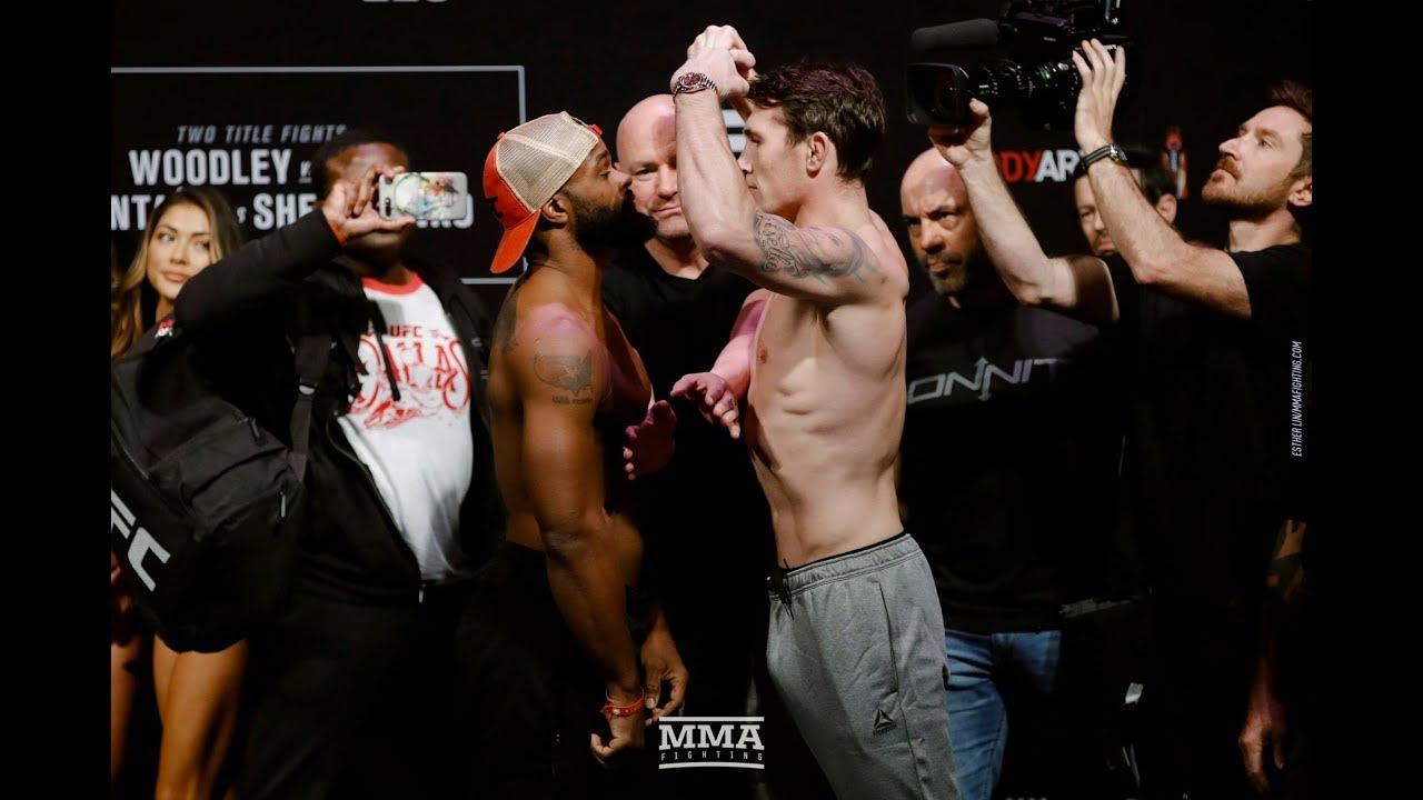 UFC 228: Tyron Woodley vs. Darren Till Weigh-In Staredown - MMA Fighting