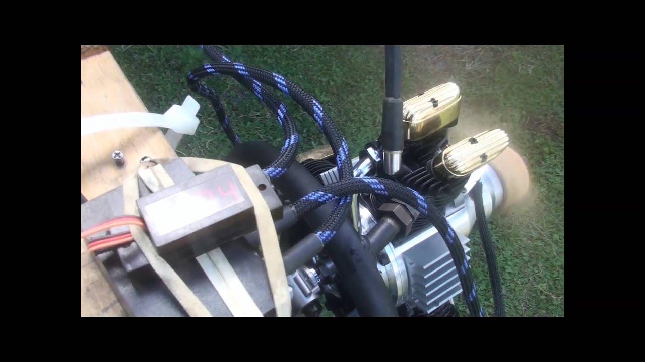 Saito 450 3 Cylinders Radial Engine, CDI Glow By CH Ignitions mp4