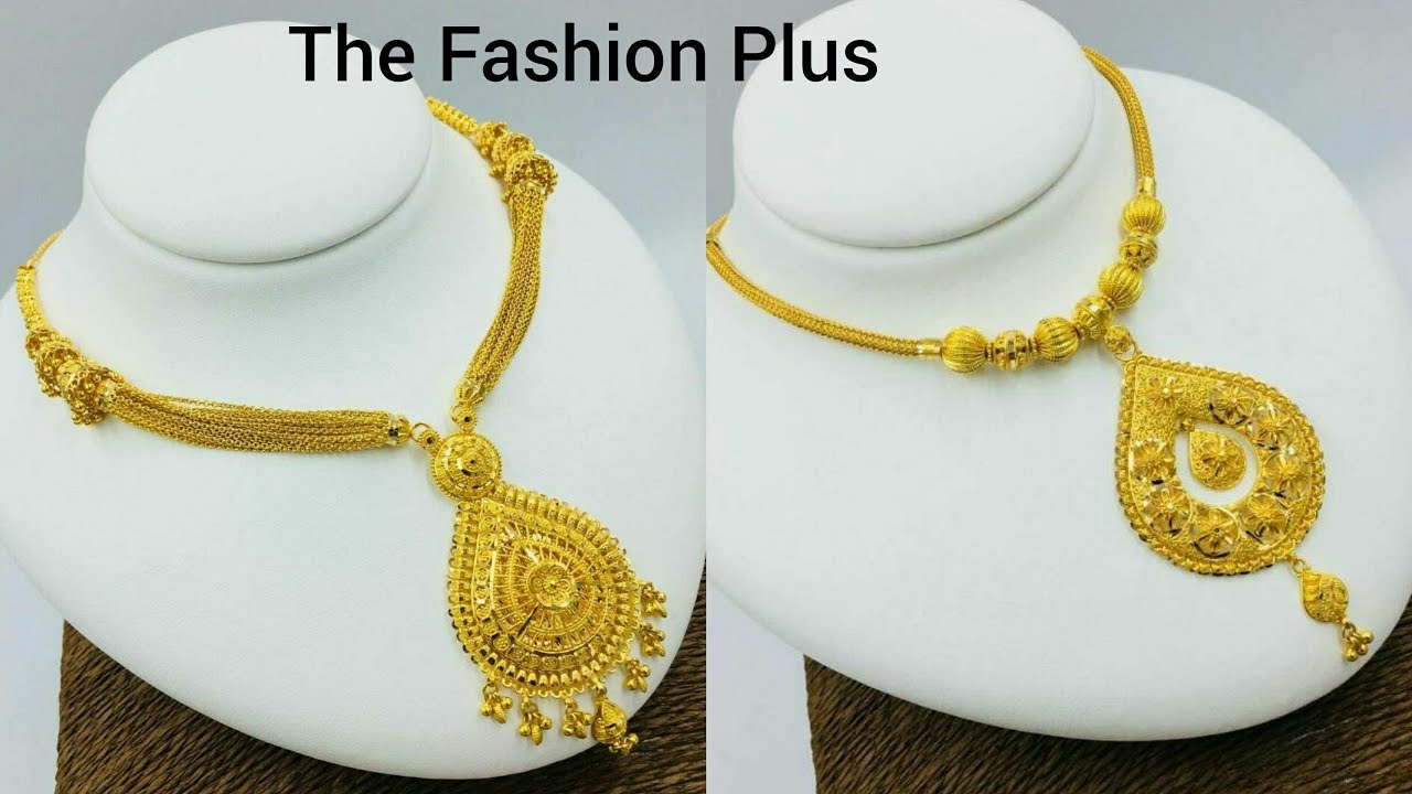 Latest Gold Chain And Pendants Designs Gold Pendant Necklace Designs Youtube