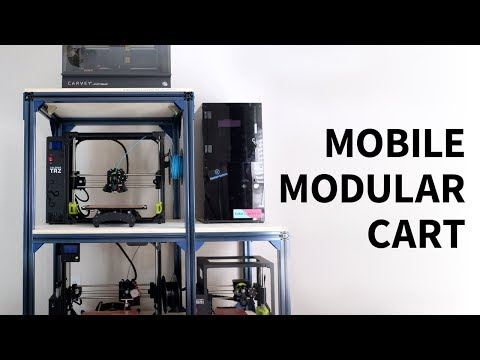 Modular Rolling 3D Printer Cart Using T-slot Extrusions | Vention