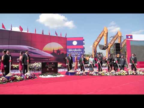 Laos-China railway project construction commences