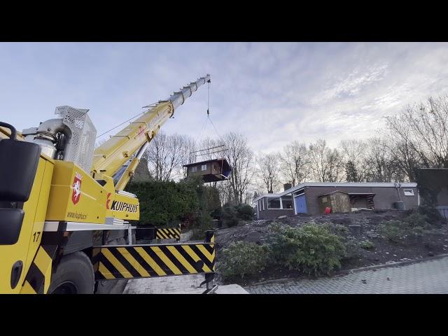 Verhuizing van tuinhuis in Oldenzaal