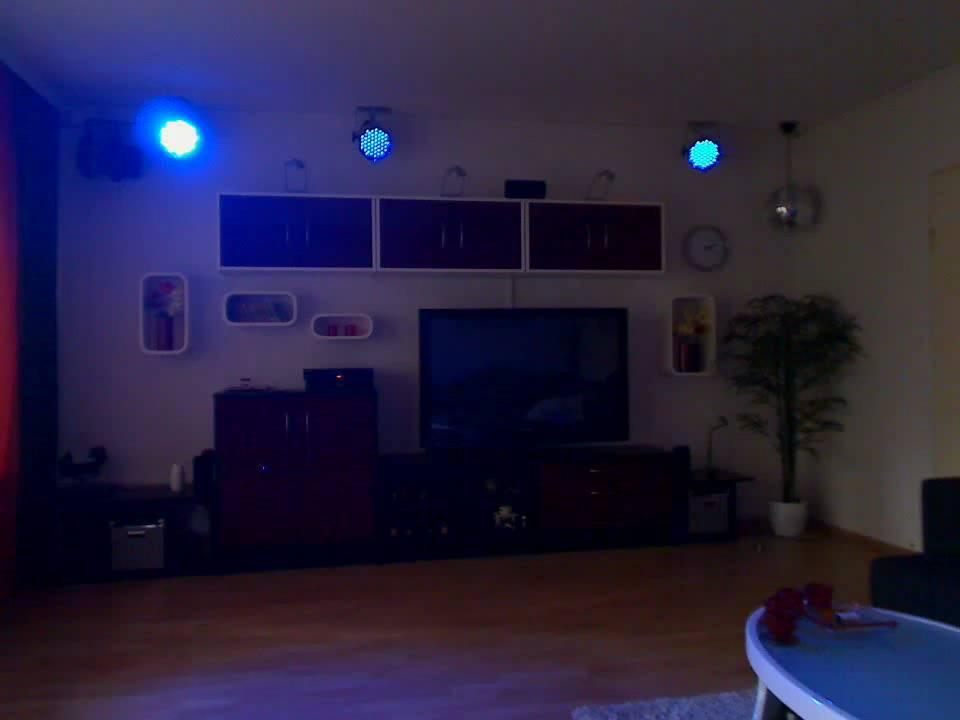 Effekt Demo 3x STAIRVILLE LED PAR 56 Und DMXControl Im Wohnzimmer