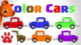 #Çocuklar için h Renk Şarkı ÖĞREN RENKLER | Çocuk çizgi film arabalar | DancingBear ile renkleri Öğren