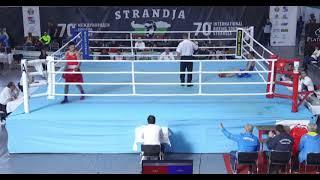 Нокдаун казахстанского боксера в бою с экс-соперником «Astana Arlans»
