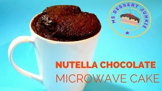 5-minute Nutella Chocolate Microwave Cake Recipe Featuring.. Louie  | Msdessertjunkie