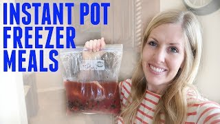3 EASY Instant Pot Freezer Meals (and Slow Cooker) - Dump and Go Instant Pot Recipes