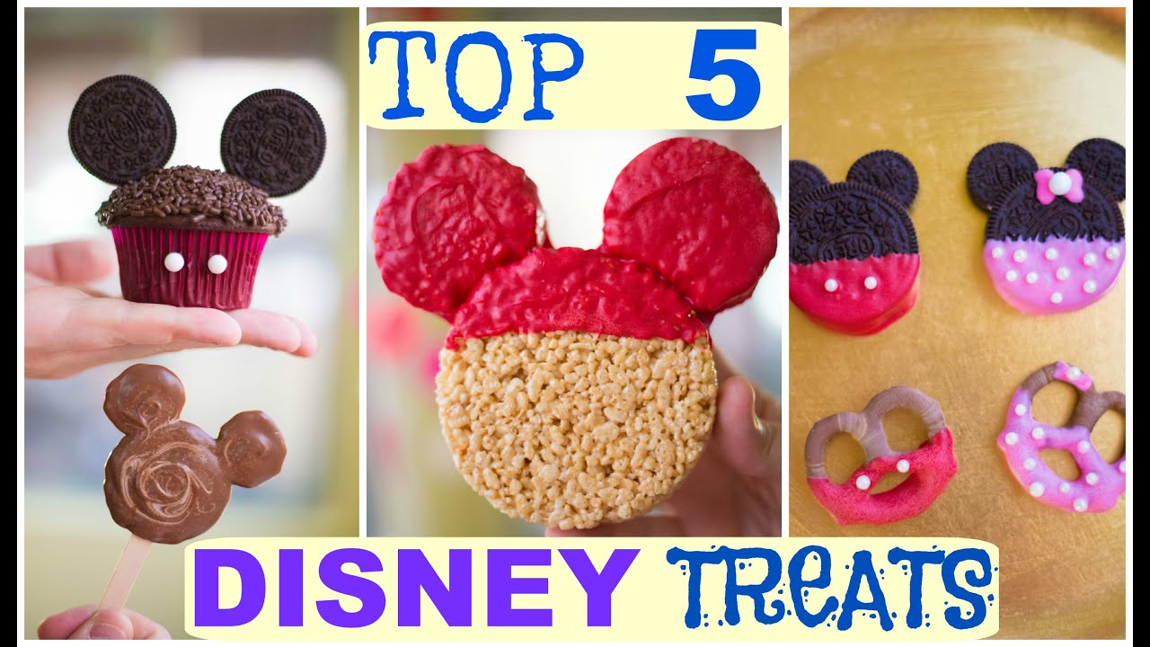 top 5 disney treat ideas mickey and minnie mouse youtube