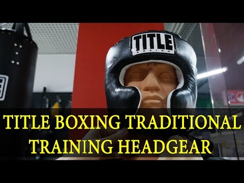 TITLE Boxing Traditional Training headgear (шлем)
