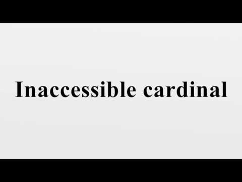 Inaccessible cardinal