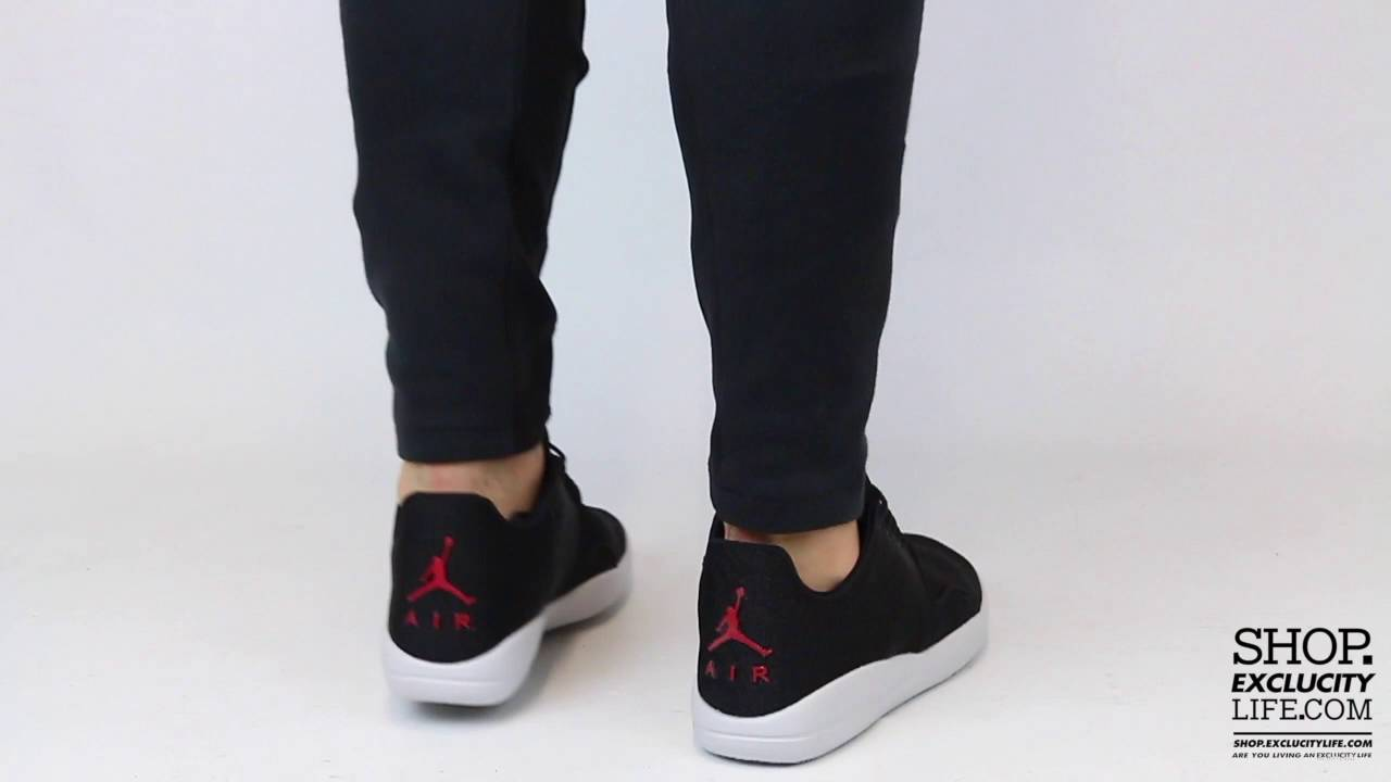 2ded74cc7a36 Jordan Eclipse Black Red On feet Video at Exclucity - YouTube
