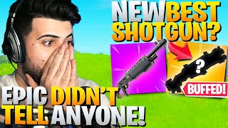 Epic Kept This *HUGE* Shotgun Buff A SECRET! (New Best Shotgun!?) - Fortnite Battle Royale