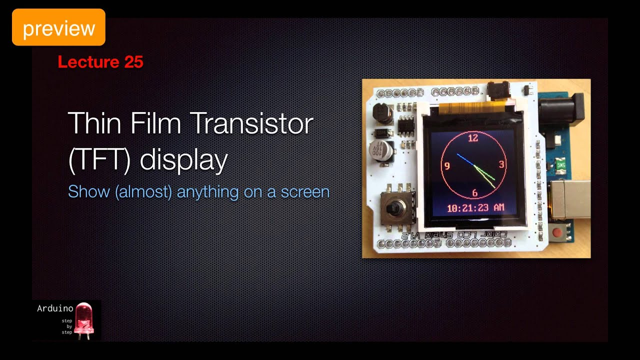 Arduino SbS Preview - True Type Font TFT display - YouTube