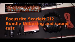 focusrite scarlett 2i2 solo studio unboxing review and sound test