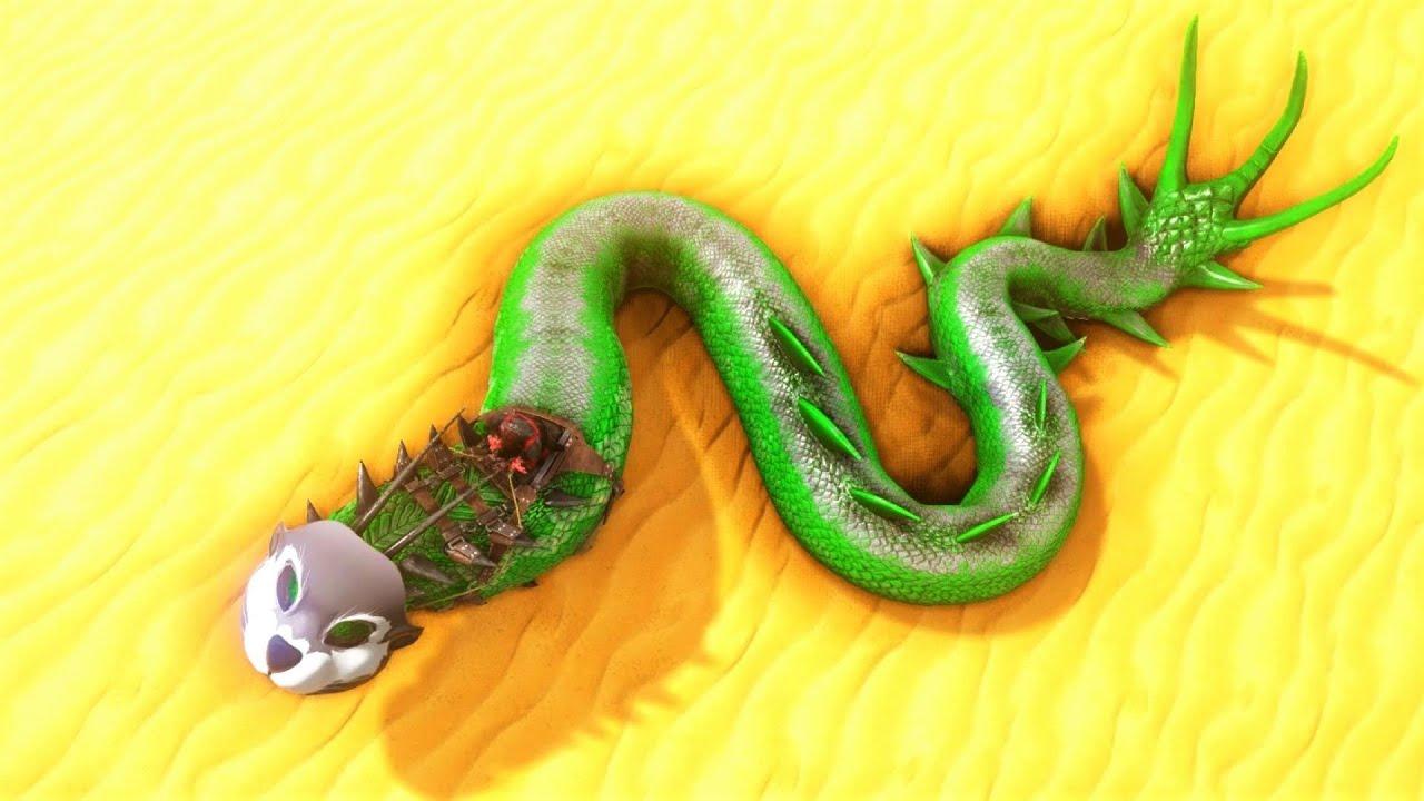 GIANT MEGA SNAKE PRIMAL BASILISK !!! ARK Survival Evolved Pugnacia Dinos ARK MODDED E17 thumbnail