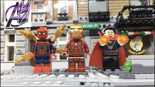 LEGO Avengers Infinity War- IRONMAN SPIDERMAN DOCTOR STRANGE SHOWDOWN  [STOP MOTION]