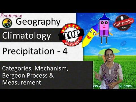 Precipitation - 4 Categories, Mechanism, Bergeon Process & Measurement