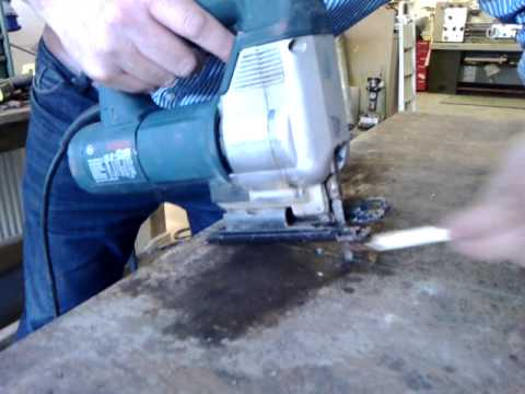 Cutting 6mm Steel Plate Using A Jigsaw Youtube