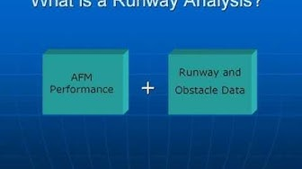 What is runway analysis?