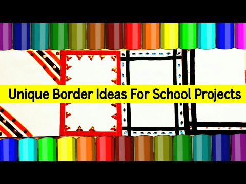 How To Decorate Project File Cover Page | Attractive Border Designs For School Project File | Frames