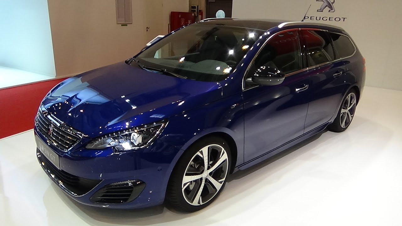 2016 peugeot 308 sw gt blue hdi 180 exterior and interior essen motor show 2015 youtube. Black Bedroom Furniture Sets. Home Design Ideas