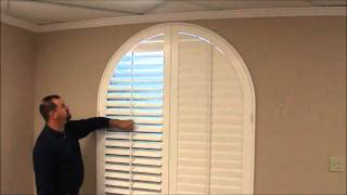 Custom Shutters For Arched Windows