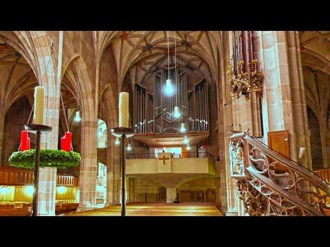 Germany church organ music in Tübingen-city 4K Stiftskirche Orgelmusik. Германия, музыка в церкви.