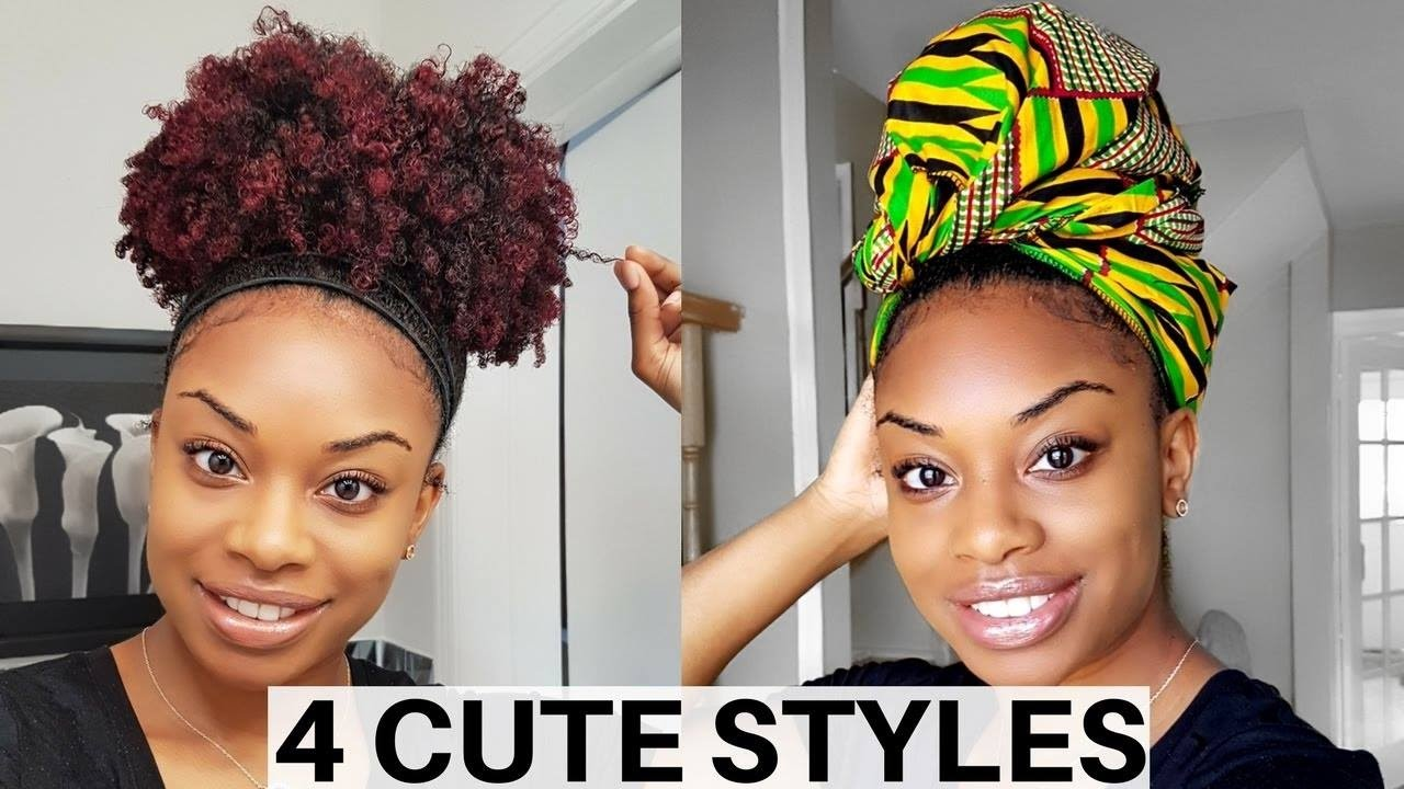 Easy Hairstyles On The Go 4 Quick Easy Hairstyles For A Old Wash And Go