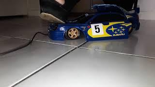 High Heels crushing car !!! CRUSHING SUBARU !!!