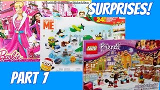 A Surprise Every Day! Minions, Barbie, Lego Friends Holiday Advent Calendar Playsets Part 1