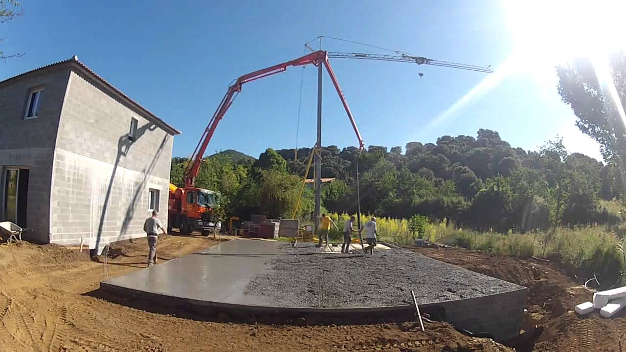 coulage dalle beton youtube