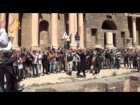 يقين للتاريخ أفضل الأحتفالات هجيني حوراني داخل قلعة بصرى بعد الأنتصار