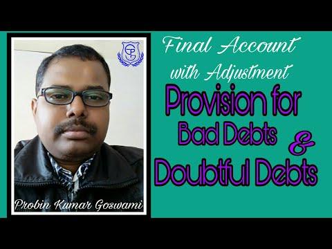 Adjustment for Bad-debts & Provision for Doubtful Debts