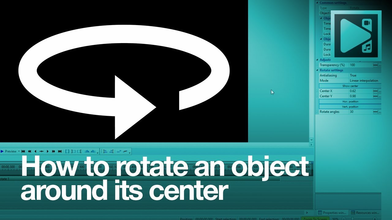 How to rotate an object around its center in vsdc free video editor how to rotate an object around its center in vsdc free video editor ccuart Images
