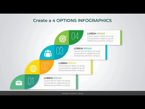 PowerPoint 4 OPTIONS Infographics Design Tutorial thumbnail