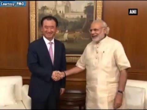 PM Modi meets Dalian Wanda Group Chairman