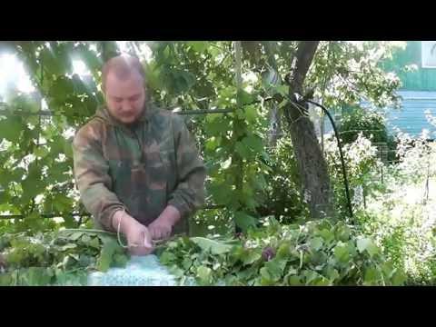 Как заготавливать березовые веники. Часть 2 - вяжем и сушим веник для бани.