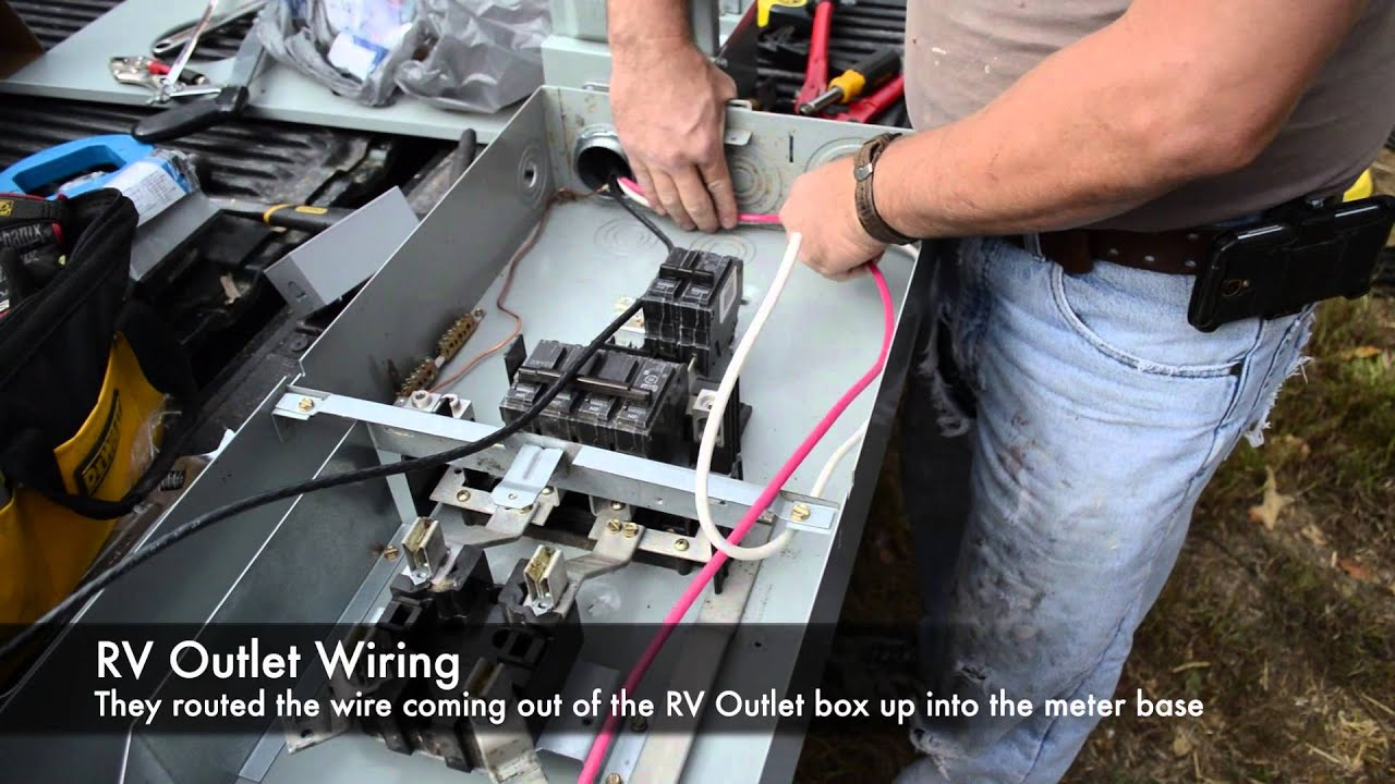 wiring an rv power pole youtube rh youtube com rv breaker box wiring rv box wiring for park