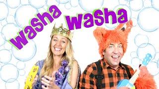 Children's Song Wash Your Hands, Kids Songs & Nursery Rhymes, Washa Washa Sing along, Princess & Fox