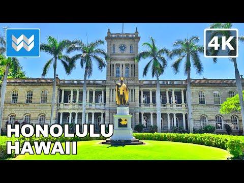 [4K] Downtown Honolulu Hawaii USA - 2021 Walking Tour & Travel Guide