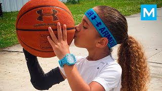 6 year old basketball phenom jaliyah manuel balls like steph curry muscle madness
