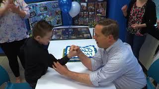 Arm Wrestle MANIA with wish kid Mason