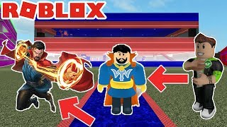 THE PERFECT BATTLE BETWEEN SUPERHEROES / Roblox Super Hero Tycoon / Roblox English / Game Line