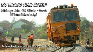 Akhirnya 36Th Non Aktif Jalur KA Cibatu - Garut Dilintasi Kereta MTT Plasser.