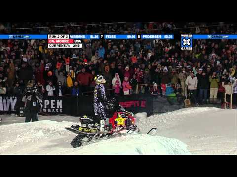 Winter X Games 15 - Caleb Moore Silver Medal Snowm...