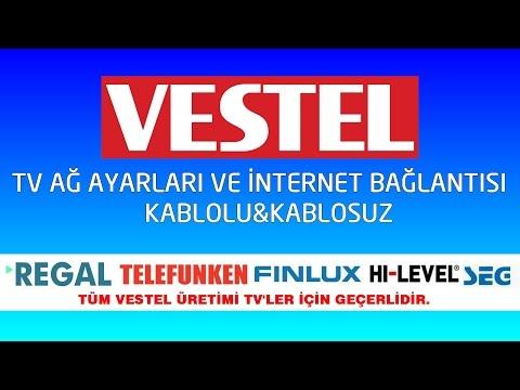 VESTEL SMART TV İNTERNET BAĞLANTI  AYARI