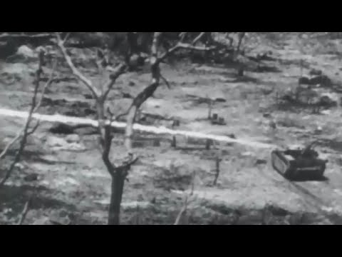 US Marines Intense Combat Footage Battle of Peleliu and Ngesebus Island WW2 w Sound