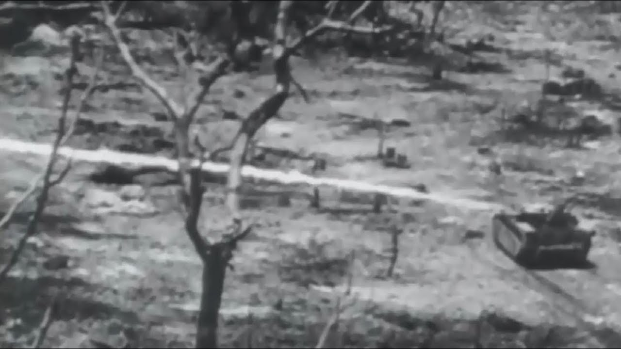US Marines Intense Combat Footage Battle of Peleliu and Ngesebus Island WW2  w/ Sound