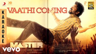 Master - Vaathi Coming Karaoke | Thalapathy Vijay | Anirudh Ravichander