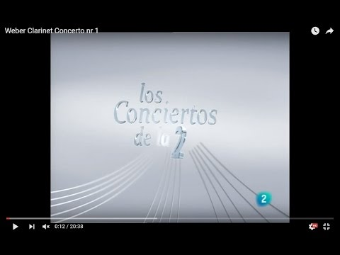 RTVE Los Conciertos de la 2 | Weber, Clarinet Concerto nr 1 | Pablo Barragán, clarinetist